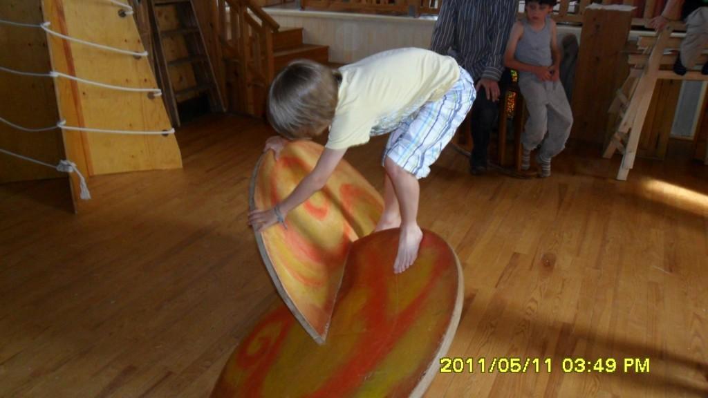 Gleichgewicht auf dem Kreuzrad